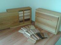Xylothek – Kästen mit verschiedenen Holzproben