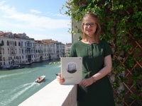 Autorin Barbara Berger in Venedig