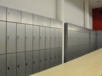 Schließfächer im Garderobenraum der Teilbibliothek Stammgelände