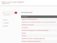 Screenshot Website Bibs vs. virus