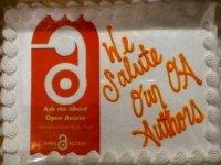 Torte anlässlich der Open Access Week