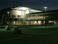 Building of the Mechanical Engineering Faculty by night