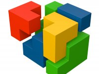 Bauklötze in Tetrisanordnung