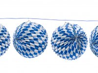 Papierlampions mit blauen Rauten