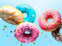 Bunte Donuts