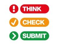 Logo der Kampagne Think. Check. Submit