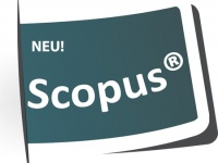 "Icon of flag reading ""New! Scopus"""