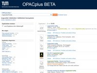 Screenshot OPACplus
