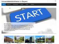 Screenshot der Webseite Universitätsbibliotheken in Bayern mit Slideshow-Bild zum Start der Webseite