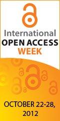 Banner of the International Open Access Week 2012