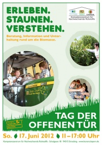 Poster for the 2012 open house day at the KoNaRo Straubing