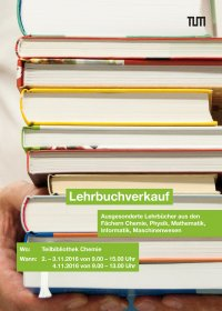 Poster Textbook Sale Garching 2016