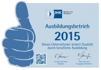 Signet commissed by the Chamber of Commerce and Industry for Munich and Upper Bavaria for training organisations 2015