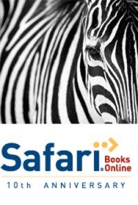 Zebra and Logo of Safari Books Online