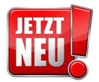 """Icon mit Schriftzug """"Jetzt neu!"""""""