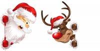 Weihnachtsmann und Rentier Rudolph