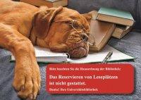 Posterkarte mit Hundemotiv