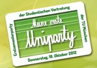 Poster Uniparty des AStA