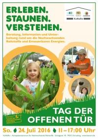 Poster zum Tag der offenen Tür 2016 am Kompetenzzentrum Straubing