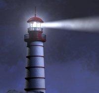 Leuchtturm im Dunkeln