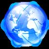 Icon einer Weltkugel