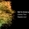 decorative element and text: Get to know your library!