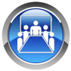 Icon for face to face courses (5 people in conference room)