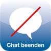 Icon mit durchgestrichenem Chat-Symbol