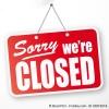 Schild mit Aufschrift Sorry we're closed