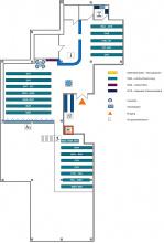 Lageplan Teilbibliothek Chemie Untergeschoss