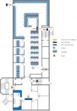 Lageplan Teilbibliothek Medizin Erdgeschoss