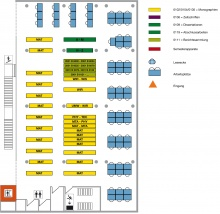 Lageplan Teilbibliothek Mathematik/Informatik 2. Obergeschoss