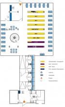 Lageplan Teilbibliothek Physik 1. Obergeschoss