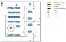 Lageplan Teilbibliothek Physik 2. Obergeschoss