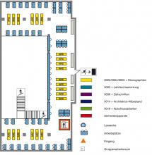 Lageplan Teilbibliothek Stammgelände Zwischengeschoss