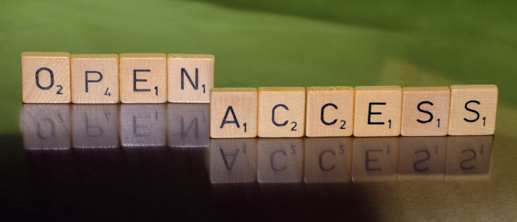 """Scrabble stones forming the term """"open access"""""""